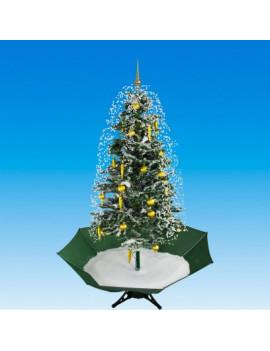 DEMA Vianočný stromček so snežením a ozdobami 175 cm