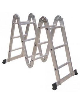 DEMA Multifunkčný hliníkový kĺbový rebrík 4x3 priečky