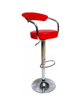 DEMA Barová stolička s operadlom Lehne, červená