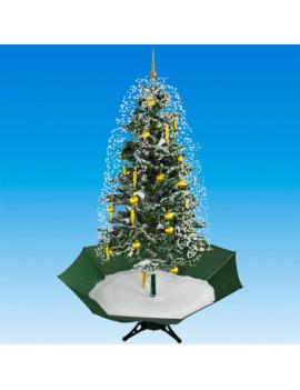 DEMA Vianočný stromček so snežením a ozdobami 195 cm