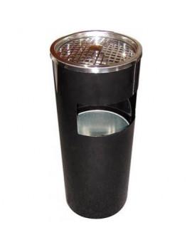 DEMA Popolník s košom 25x61 cm, čierny