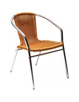 DEMA Hliníková záhradná stolička s výpletom Comfort