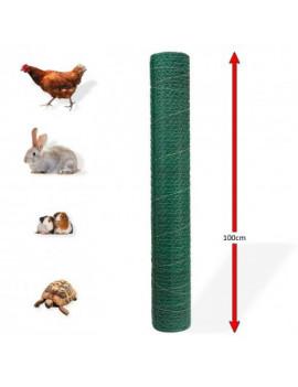 DEMA Králičie šesťhranné pletivo poplastované 25 mm, 1x25 m, drôt 0,8 mm, zelené