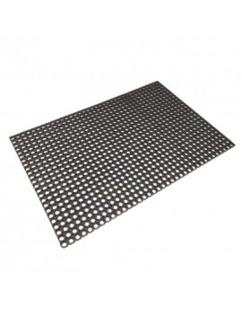 DEMA Gumová rohožka s krúžkami 80x120 cm, čierna