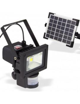 DEMA Solárny LED reflektor 10 W s detektorom pohybu DSSB 10