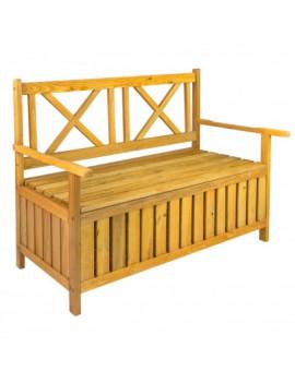 DEMA Drevená záhradná lavička s truhlicou Davos