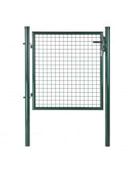 DEMA Plotová bránka jednokrídlová 100x120 cm, zelená
