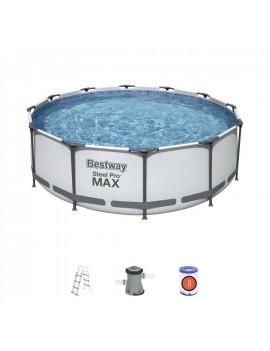 Bazén Bestway® Steel Pro MAX, 56418, 366x100 cm, filter, rebrík