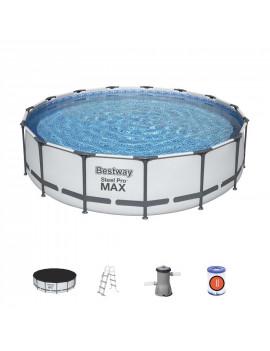 Bazén Bestway® Steel Pro MAX, 56488, 457x107 cm, filter, rebrík, plachta