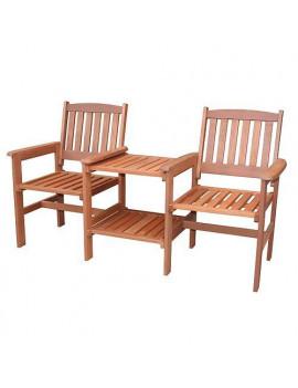 Set LEQ KOLDING, balkónový, 160x63x89 cm, drevený