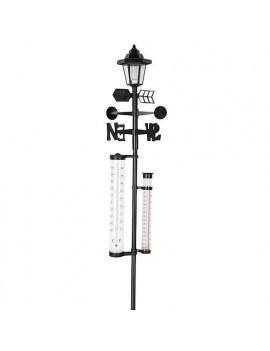 Meteostanica SWS29, Solar, 158 cm, zrážkomer, teplomer, solárna lampa