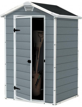 Domcek Keter® MANOR 4x3, sivá/biela, 128x94x196 cm, UV