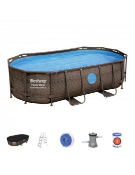 Bazén Bestway® Power Steel™, Vista Series, 56714, 427x250x100 cm, filter, rebrík, plachta, dávkovač