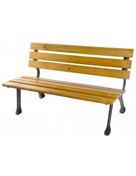 Lavička PAYTON, záhradná, kov/drevo, 122x58x72 cm