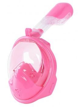 Maska šnorchlovacia Dory, celotvárová, pre deti 4+, XS, ružová