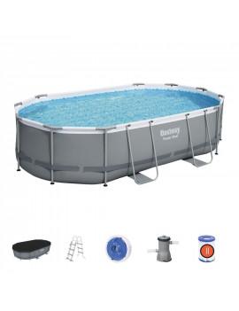 Bazén Bestway® Power Steel™, 56448, 488x305x107 cm, filter, pumpa, rebrík, plachta, dávkovač