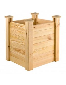DEMA Vyvýšený záhon drevený 63x63x77 cm Antonie